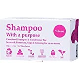 Shampoo with A Purpose Shampoo & Conditioner Bar for Volume Hair, 135 Grams