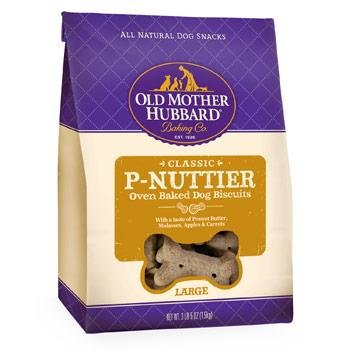 Old Mother Hubbard Crunchy Classic Snacks for Dogs, Large P-Nuttier, 3-Pound and 5-Ounce Box, My Pet Supplies