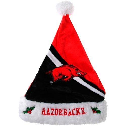 2013 NCAA College Team Logo Swoop Holiday Santa Hat (Arkansas Razorbacks) (Arkansas Razorbacks Santa Hat)