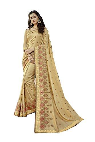 Traditional Women Wear Party Da for Wedding Facioun Beige Sarees Designer Sari Indian 7 8zzZUqI
