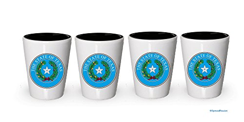 Texas State Seal Shot Glass- Gifts for Texas People (4)
