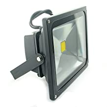 QUANS 30W Watt Warm White 12V 24V AC DC Ultra Bright LED Security Wash Flood light Floodlight Lamp High Power Black Case Waterproof IP65 Work in the Rain Superbright 3000K, 12-24V INPUT Low Voltage