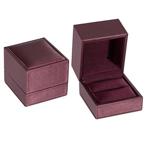 Beydodo Satin Jewelry Box Women Red Wedding Ring Box Holder Earring Box Girls