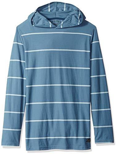 (Billabong Men's Die Cut Stripe Pullover Hoodie Washed Blue Medium)