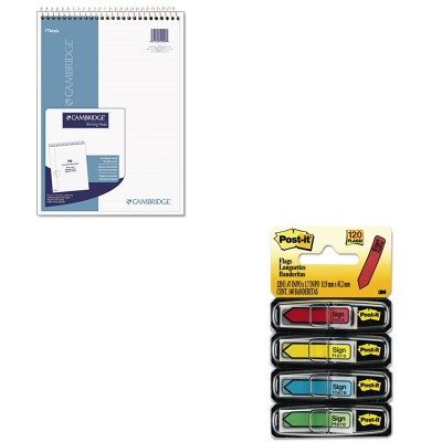 KITMEA59006MMM684SH - Value Kit - Mead Wirebound Numbered Legal Pad (MEA59006) and Post-it Arrow Message 1/2quot; Flags (Wirebound Numbered Legal Pad)