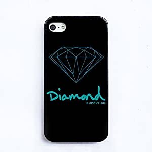 Diamond Supply co HD image case cover for Iphone4 4S case black silicone Soft shell nice packaged by LINDAS