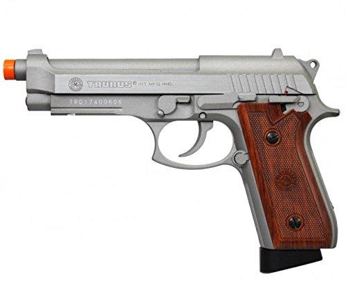Cybergun Taurus Full Metal PT92 Co2 GBB M9 Airsoft Pistol by KWC - Silver