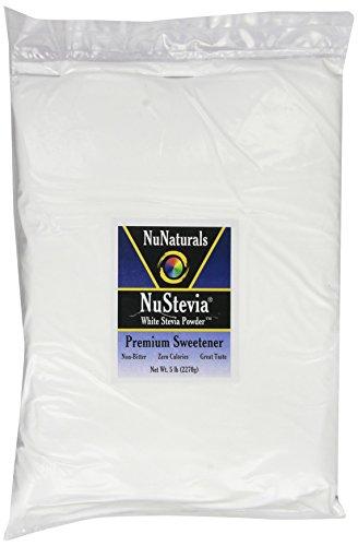 Nunaturals Nusteiva Белый Стевия порошка, 5 фунтов