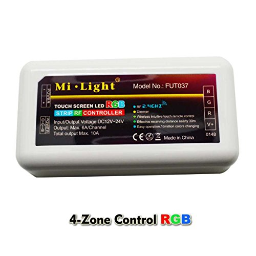 Mi Light 2.4G Remote Control Dimmer RF Controller Dimming 16 million colors for RGB LED Strip Lights -  NS