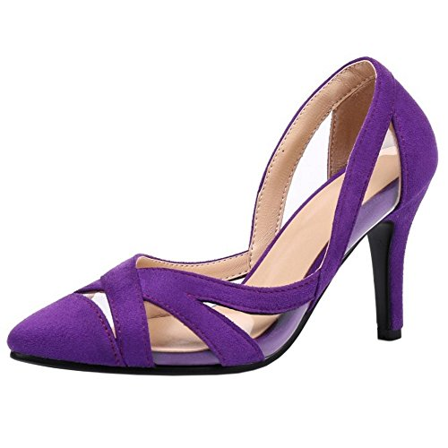 Stiletto Toe Slip Sandalias Shoes Purple Mujer on Moda Coolcept Cerradas w1R0SSq