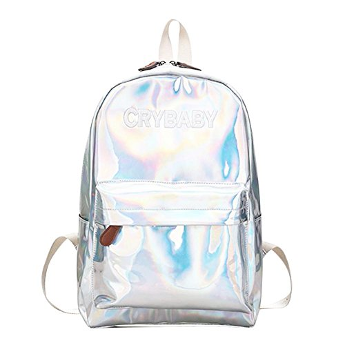 HOSPORT Backpack Laser Women Shoulder Schoolbag Hologram Silver Bag Fashion Rucksack SRqfrS