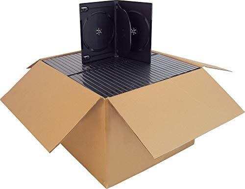 DV4R14BKWT - Standard 14mm DVD Cases - 4 Disc Capacity - Black - (100 Pack) ()