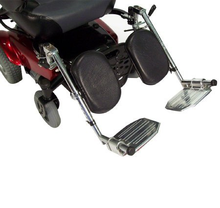 Drive Medical Elevating Legrests for use with Chrome Sport, Cirrus IV with Chrome Frame, Viper Wheelchairs - 1 Pair, LELR-TF