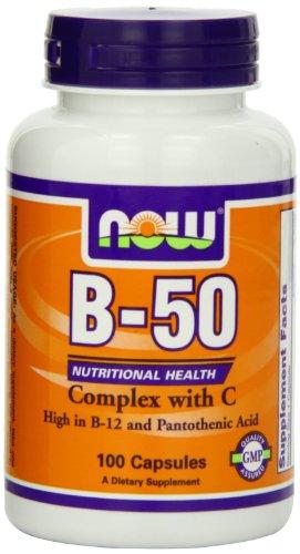 Now Foods Vitamin B-50 Complex, 100 Veg Capsules