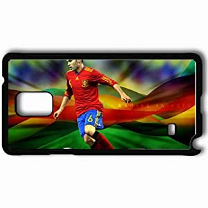 Personalized Samsung Note 4 Cell phone Case/Cover Skin Andres iniesta Black by lolosakes
