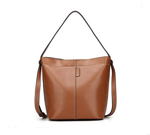 6 bag Ms inch 8 LXopr Genuine 5 2 Bags backpack Brown 10 Crossbody Shoulder 9 Leather 0wOw8qXF