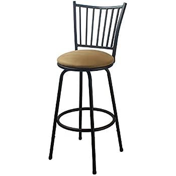 Amazon Com Joveco Round Seat Counter Height Metal Bar