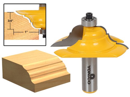 Yonico 13133 Table Edge Router Bit with French Baroque 1/2-Inch -