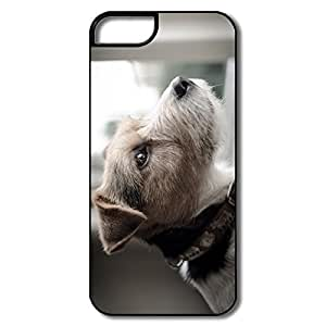 IPhone 5 Case, Dog Cases For IPhone 5 5S - White/black Hard Plastic