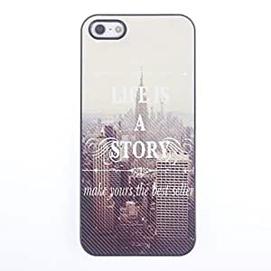 DUR Life is a Story Design Aluminium Hard Case for iPhone 5/5S