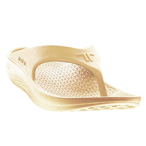 Telic Energy Flip Flop - Comfort Sandals for Men and Women, Idaho Dunes, Women's 12 / Men's 11