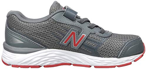 New Balance Boys' 680v5 Hook and Loop Running Shoe Lead/red 2 M US Infant by New Balance (Image #6)