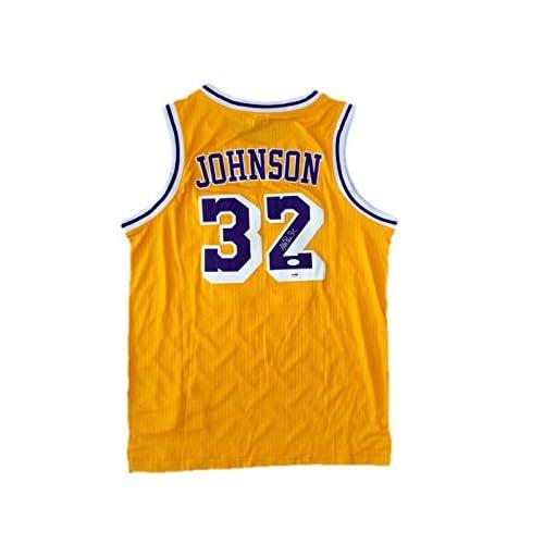 3dc4d6d8a durable modeling Magic Johnson Signed Jersey - Home - JSA Certified -  Autographed NBA Jerseys