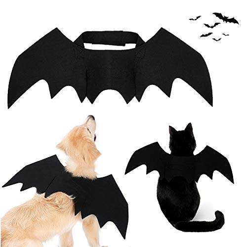Strangefly Halloween Bat Wings Pet Costume,Party Dress Up Funny Cool Apparel,for Cat and Small Medium Large Dog(M)