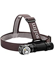 Sofirn Led Headlamp, Rechargeable Super Bright Outdoor Head Lamp Flashlight, CREE XP-L Led 1200 Lumens, Best for Running, Hunting, Camping, Caving (Battery Included)
