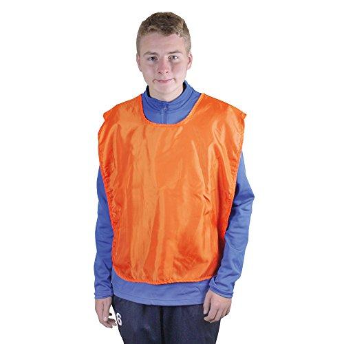 (eBuyGB Adult Sports Scrimmage Pinnies Bib Jersey - 15 Pack - Orange)