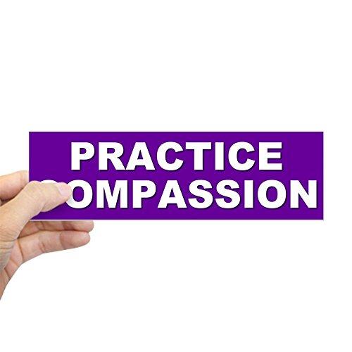 Sticker Compassion - CafePress PRACTICE COMPASSION Bumper Sticker 10
