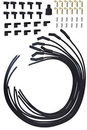 (Racerdirect Universal HIGH Energy Spiral CORE Spark Plug Wires, 8.5 MM, 135 DEG. Plug RDN)