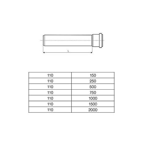 Ht Rohr Abwasserrohr Passlange Durchmesser Dn 100mm Lange 500mm