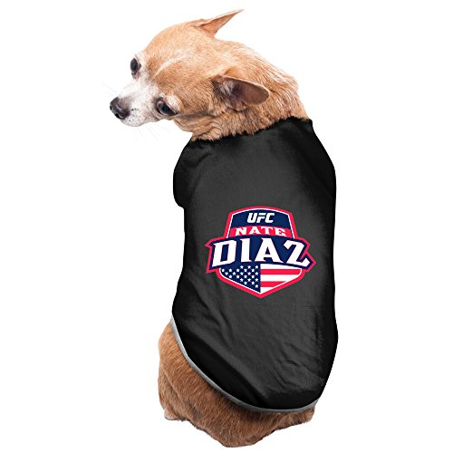 Black UFC Nate Diaz Country Crest Pet Supplies Dog Hoodies Dog Sweater