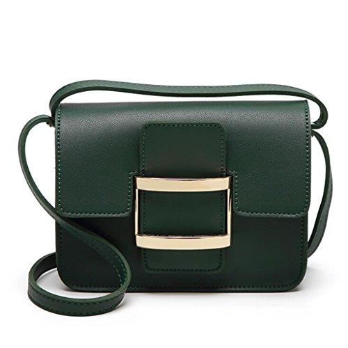 GKKXUE El bolso simple y versátil de las mujeres bolso de hombro del bolso del mensajero libera la cartera del envío (Color : Blanco) Verde
