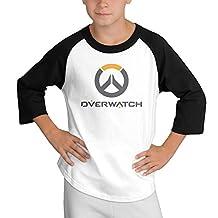 Boy Overwatch Multiplayer Logo Teenagers T Shirt Junior Fashion Raglan Shirt