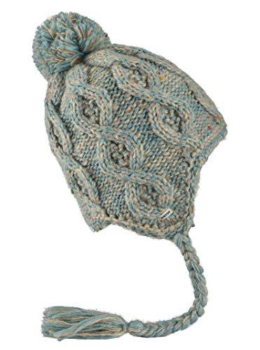 Burton Women's Chloe Ear Flap Beanie, Canvas/Abyss Marble, One Size (Winter Hats Women Burton)