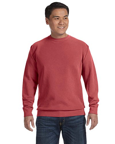 Comfort Colors Pigment-Dyed Crewneck Sweatshirt. 1566 L Crimson