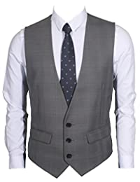 Ruth&Boaz Men's 2Pockets 3Button Business Suit Vest