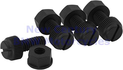 BOLT Black Nylon License Plate Fastener Kit 4/Pack
