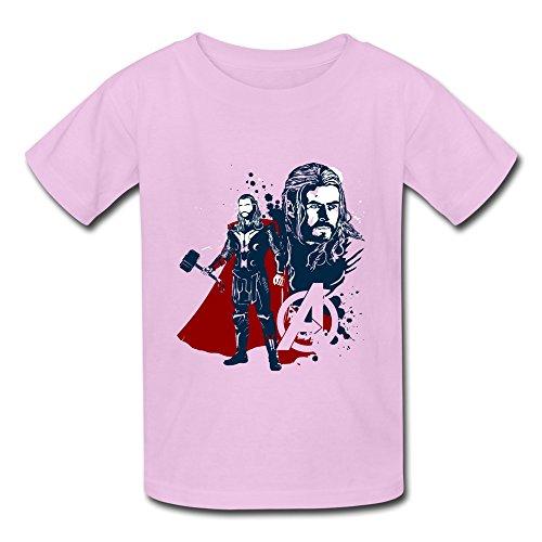 WX Kids Youth Marvel Comics Thor The Asgardian Kids Boys And Girls T-Shirt - L Pink