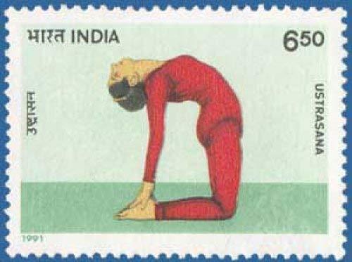 (Sams Shopping Yogasana Yogasana Posture Ustrasana Ushtrasana Camel Pose Stamp)