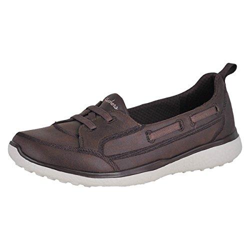 Shoe Brown Flat Sport (Skechers Sport Women's Microburst Dearest Sneaker,brown,9 M US)