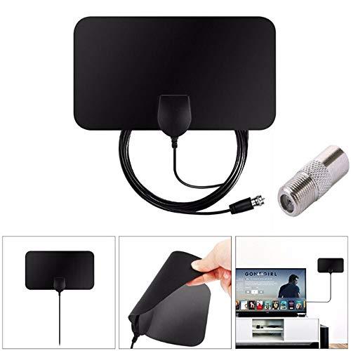 Friday Black, TV Antenna HDTV Flat HD'Digital Indoor Amplified 50-Mile Range TV Fox ALUS -