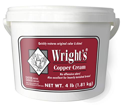 (Wright's Copper and Brass Cream Cleaner - 4 Lbs - Gently Cleans and Removes Tarnish Without Scratching )