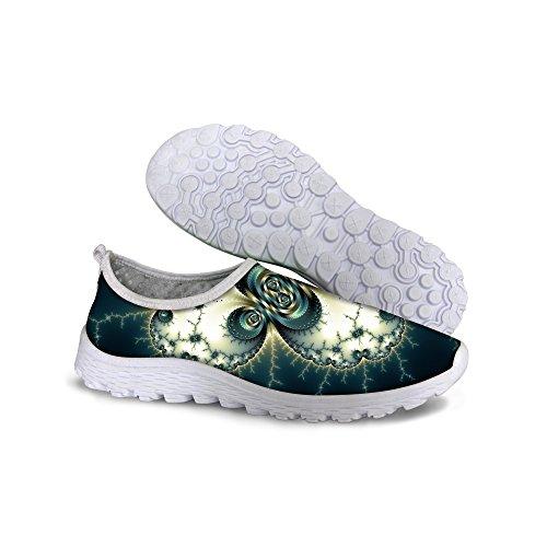 Para U Diseños Elegante Mujer Malla Transpirable Sendero Para Caminar Zapatos Verde 2