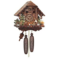 Mechanical Cuckoo Clock with One Day Movement as Rustic Chalet, 12 Inch