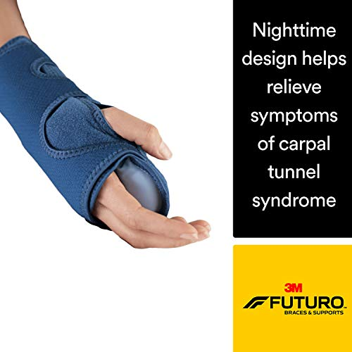 Futuro Night Wrist Sleep Support, Moderate Stabilizing Support, Adjust to Fit (Best Night Wrist Brace For Carpal Tunnel)
