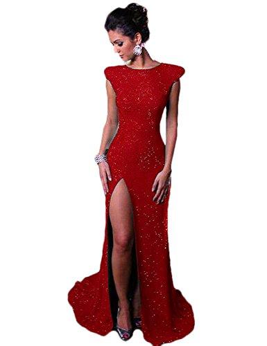 06a8cce6ea52 Red Corte Maniche Fasciante Vestito Donna Stillluxury 6q7YTW