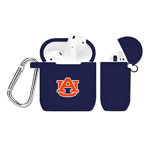 (Auburn Tigers Silicone Case Cover for Apple AirPod Battery Case - Navy Blue)